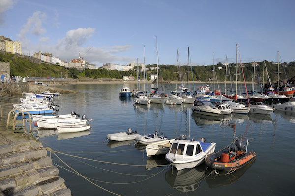 Harbour at Tenby in Pembrokeshire, South Wales