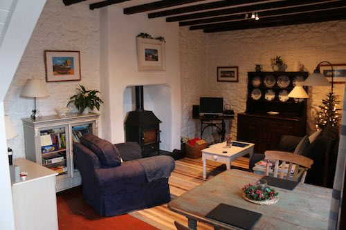 Bwthyn Gwe Living Room - St Davids Holiday Cottages Pembrokeshire