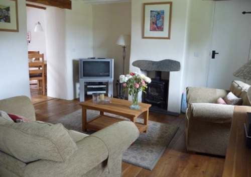 Bwthyn Bach Living Area St David Peninsula Cottages